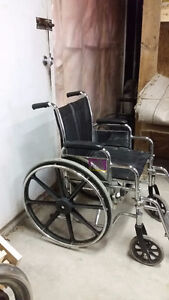 Folding Steel Transport Wheelchair with Full Arms Windsor Region Ontario image 3