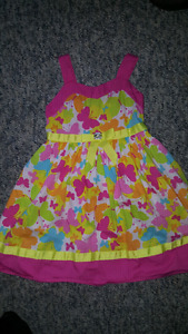 Butterfly summer dresses size 6x/7 with shoes