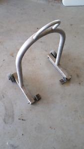 Aluminium motorcycle stand