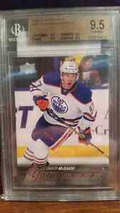 Connor McDavid Young Guns Rookie Card Graded Hockey Card