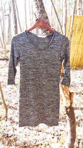 Robe stretch grise et noir