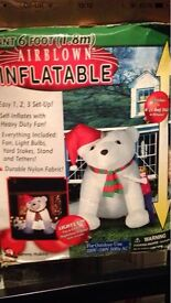 Large Xmas inflatable air blown dog