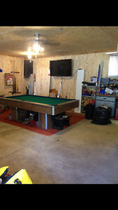4x8 slate top pool table