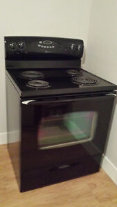 Black Electric Maytag Range