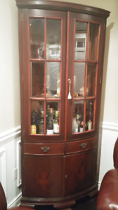 Gorgeous Tall High-End Corner Display Cabinet