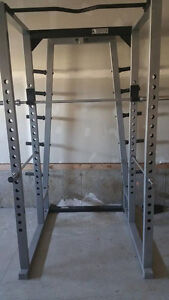 YORK commercial squat/power rack w/olympic barbell
