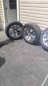 20 in chrome rims and tires 6 bolt chevy