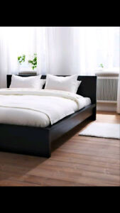 IKEA DOUBLE BED FRAME WITH HEADBOARD AND STORAGE DRAWERS