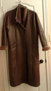 Natural Leather/Sheep winter coat