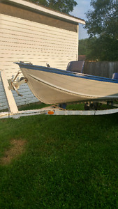 14 ft aluminum boat and trailer