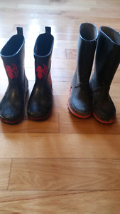 Child's Toddler Size 12 Rubber Boots *Spiderman Boots Sold*
