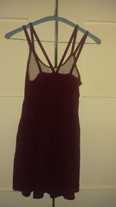 Burgundy Beaded Dress, Size Small London Ontario image 2