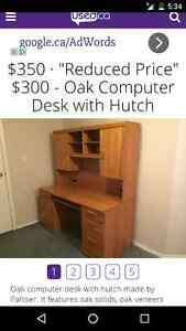 Oak desk. Like new condition. Quality made IN CANADA London Ontario image 7