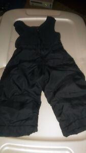 Pantalon ou salopette d neige avec protection haute noir 12 mois