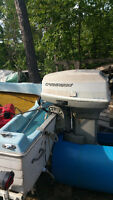 50 hp Evinrude motor for sale. Free boat.