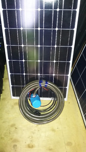 Solar water pump kit great for gardens or livestock