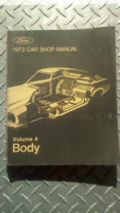 Ford Shop Manuals  1971-1973
