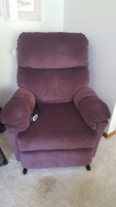 PLUM COLORED LIFT / RECLINING CHAIR