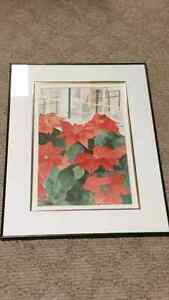 WATERCOLOR ART PAINTING ORIGINAL. FRAMED. SIGNED FRIESEN