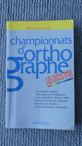 CHAMPIONNATS D'ORTHOGRAPHES- LES DICOS D'OR