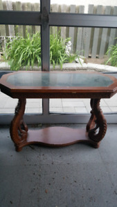Wood and Marble sofa table