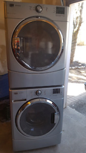Silver maytag series washer and dryer (electric)
