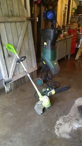 electric chipper and weed eater/edger