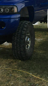 8 bolt dodge chrome rims with 35 inch tires