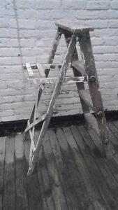 """Vintage Wooden 44""""inch Step Ladder"""