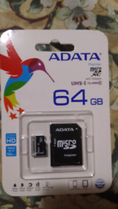 A data Micro SD card for sale 64 gb brand new