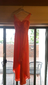 Beautiful Coral Bridesmaid/Prom Dress Size 2