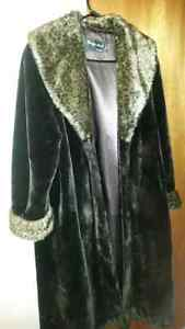 Womens Faux Fur Long Coat