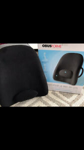 Obusforme back support for chair or car