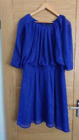 Blue size 16 chiffon dress
