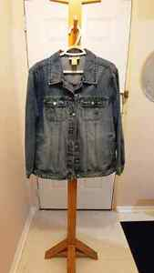 *REDUCED AGAIN* COTTON GINNY denim jacket sz.1X $25 RARELY WORN!