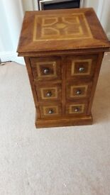 Marks and Spencer Nest of Tables and 6 Drawer Unit in Mango wood
