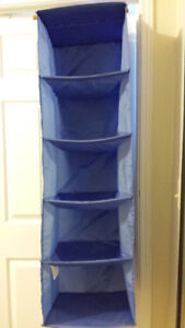 2 Identical Blue Storage Containers
