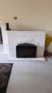 Concrete fireplace mantel - mantel only fireplace not included