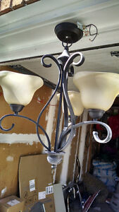 chandelier and track light for sale