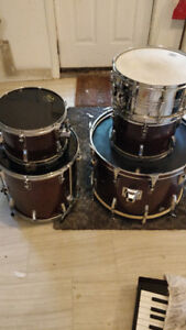 VINTAGE 80's Gretsch USA Drumkit + Cymbals, Stands, $1900 OBO