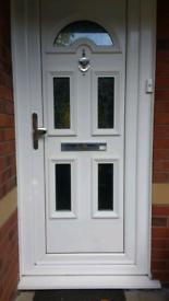 Pvc front door & frame white