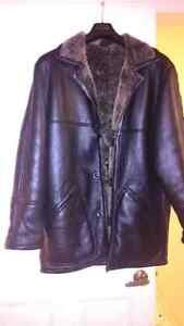 Mens shearling coat medium size