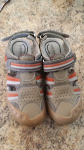 Geox closed toe sandals, size 4 youth