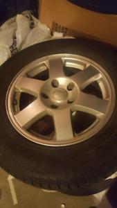 4 pneus d'hiver et jante 400$$$$