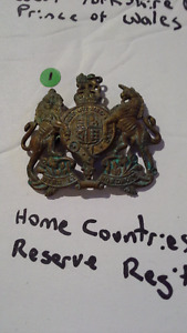 Authentic WWI cap badge. Rank badge warrant officer 1st class