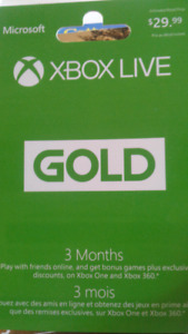 X Box Live 3 month membership