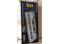 Pitchmaster 61 Key Electronic Music Piano Keyboard with Stand, like new, in box