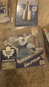 Toronto Maple Leaf figurines in unopened cases