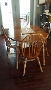 Dining room table (maple) and 4 chairs
