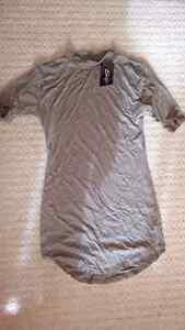Bodycon curve hem 3/4 sleeve dress